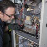 Technician furnace maintenance